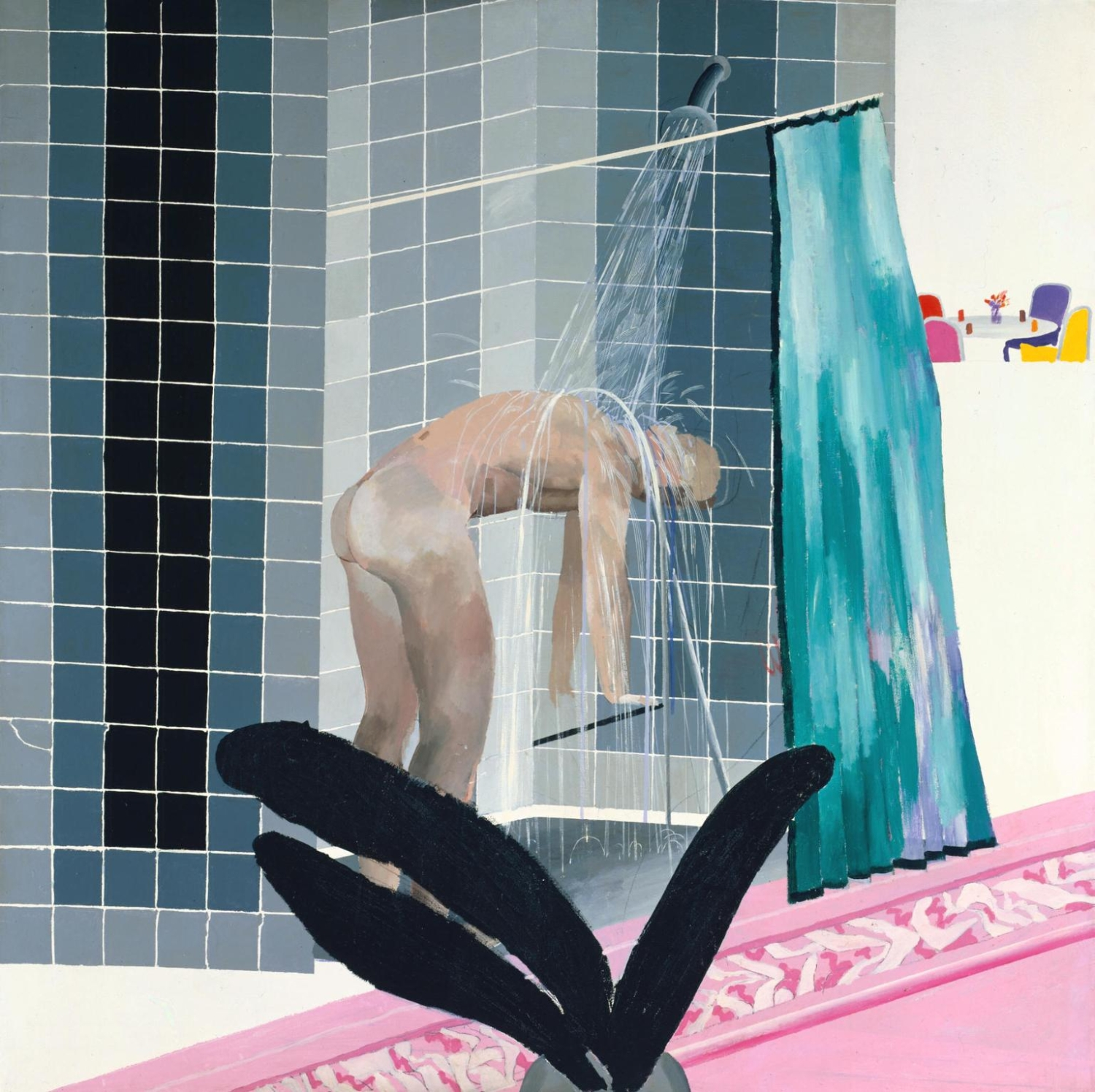 Man in Shower in Beverly Hills 1964 by David Hockney born 1937