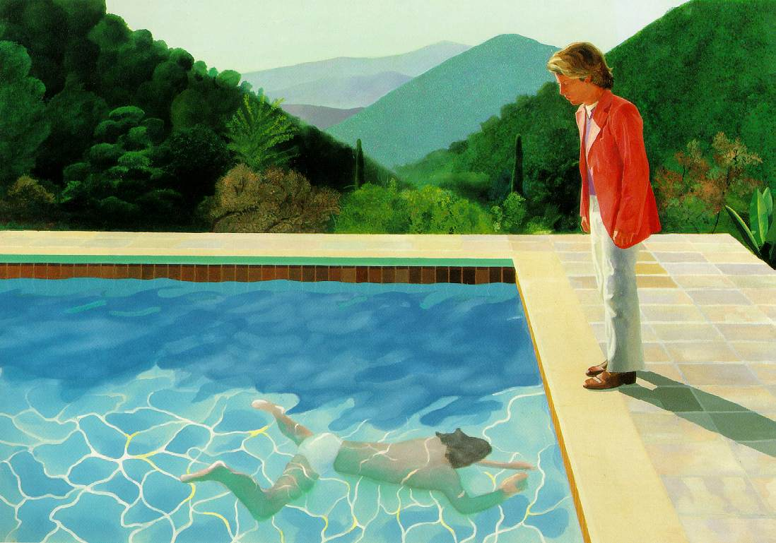 Pool with two figures, 1972